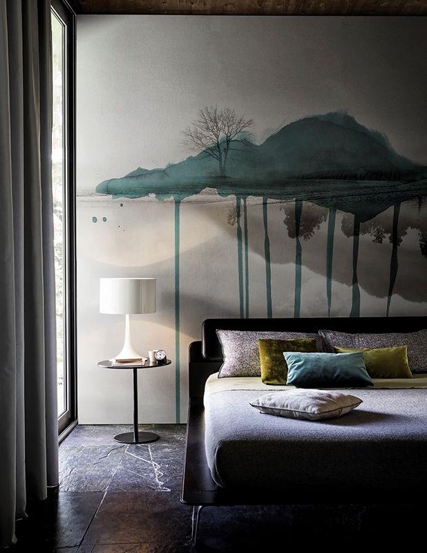 Read more… © copyright architettura e design a roma 2021. Cloud Brush Contemporary Wallpaper Wall Deco Bedroom Design