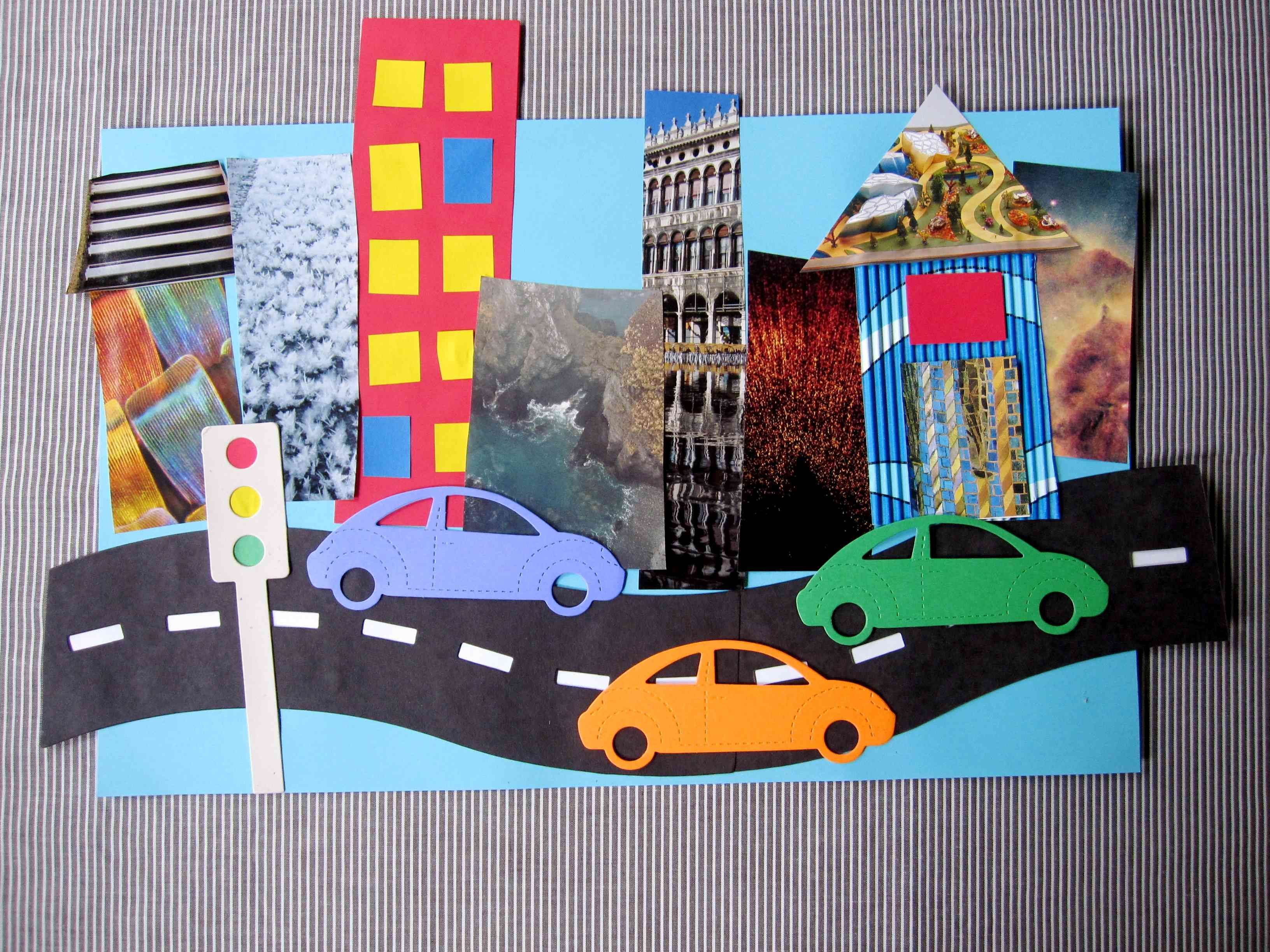 Collage Bambini ~ Best kids art collage mosaics images art