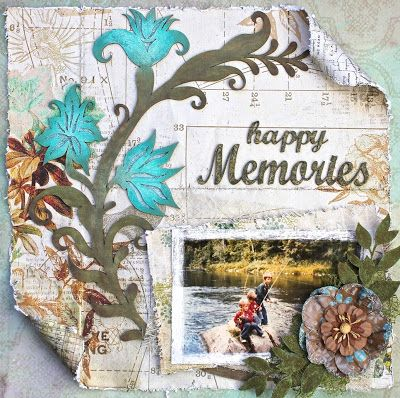 'Happy Memories' Layout and Tutorial by DT Vicky Alberto Pink Paislee papers