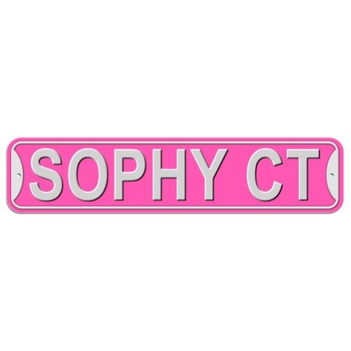 Sophy Court - Pink - Plastic Wall Sign
