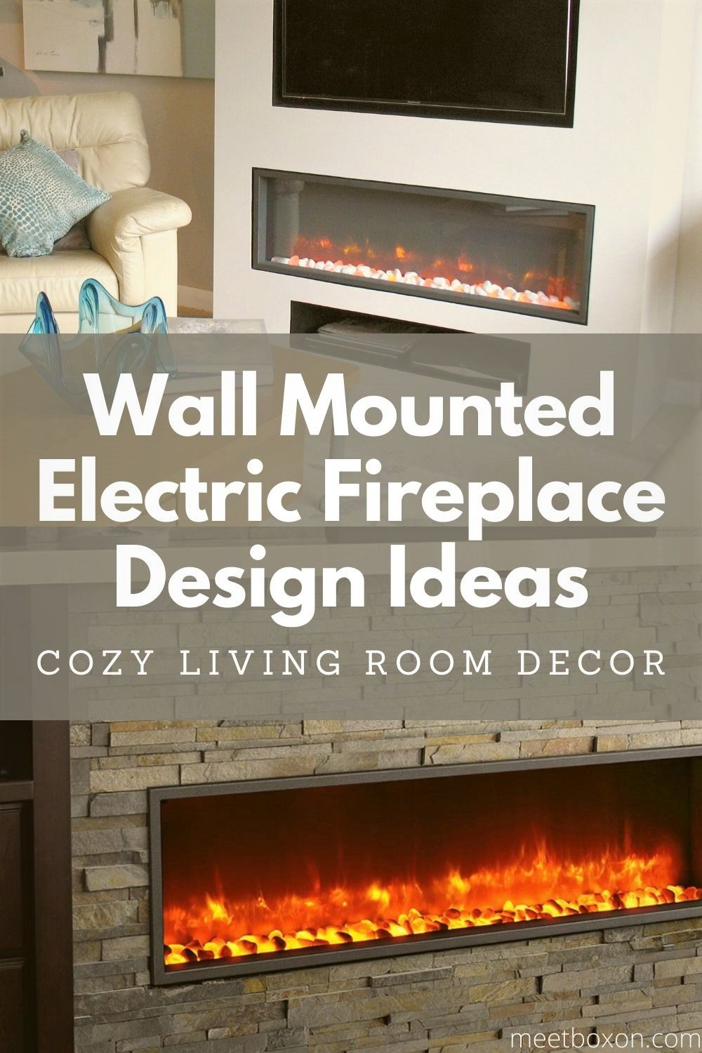 Wall Mounted Electric Fireplace Design Ideas For Cozy Living Room Decor In 2020 Wall Mount Electric Fireplace Living Room Decor Cozy Fireplace Design