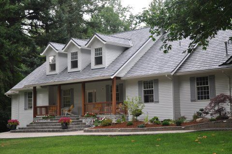 Synthetic Slate Shingles Seeing Is Believing White Exterior