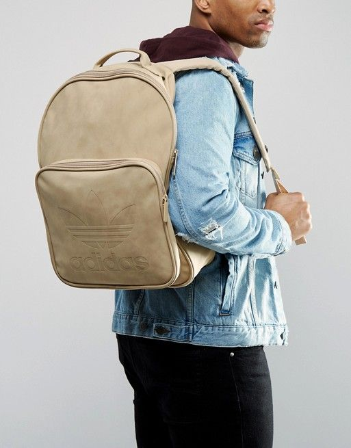 41d3831cb26 adidas Originals Classic Backpack In Linen Khaki BK7051   Pinterest    Fashion online and Backpacks
