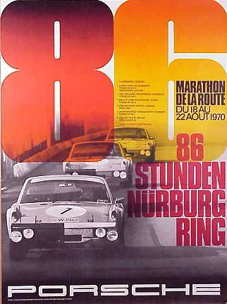 For many years Porsche published Posters of their wins at