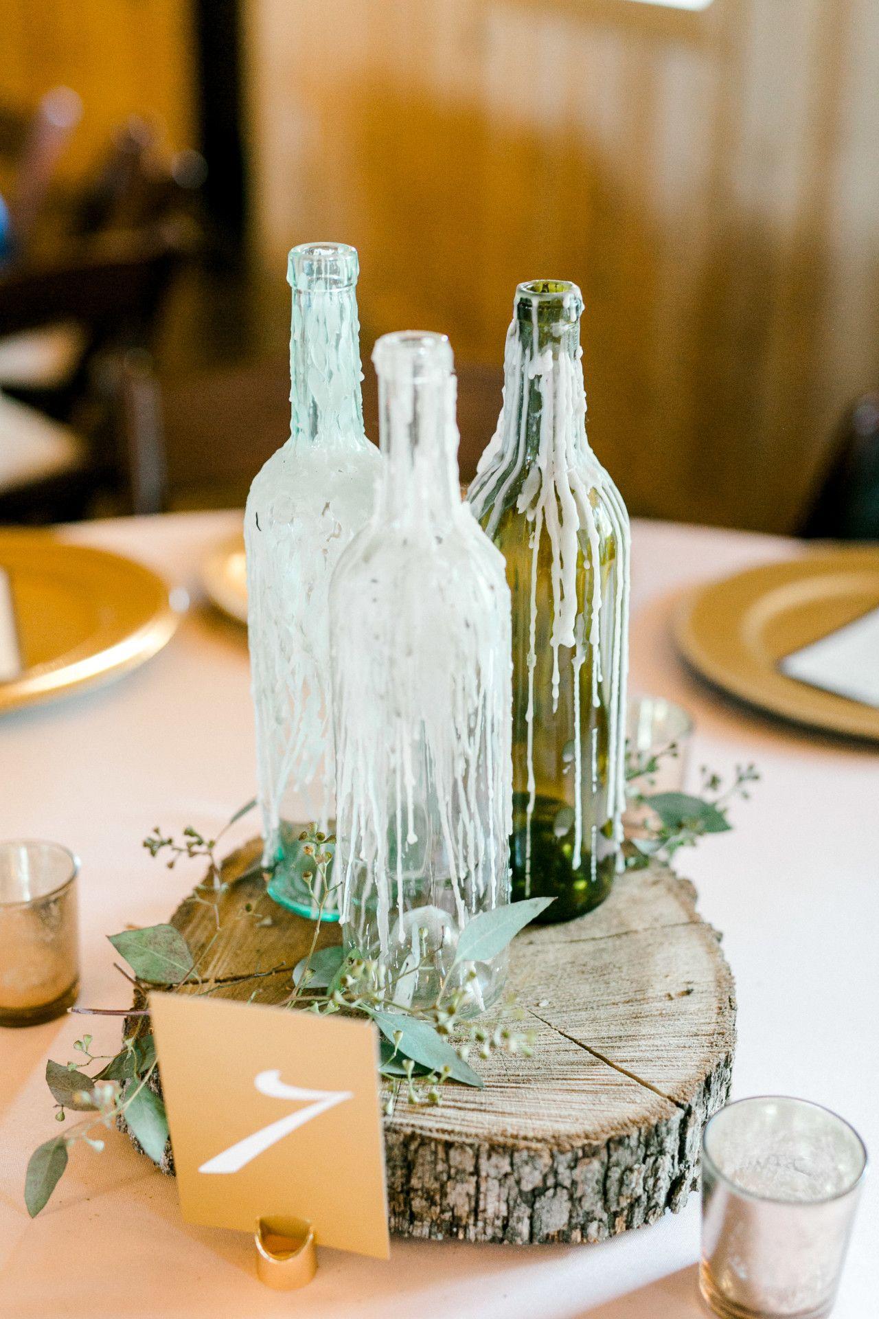 Summer Diy Wedding Decor Dripping Glass Bottle Wedding Centerpi