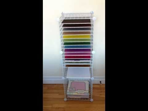 Homemade 12x12 Paper Storage Shelving & This is a quick video showing my homemade 12x12 paper storage ...