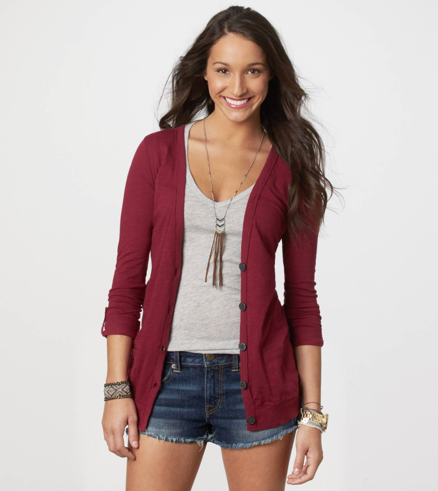cardigan or something like this. I have a grey one and a maroon ...