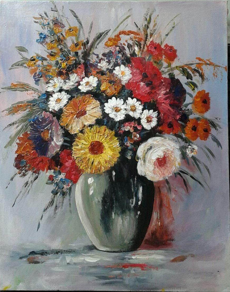 47×38 cm Lukisan bunga, Pemandangan, Abstrak