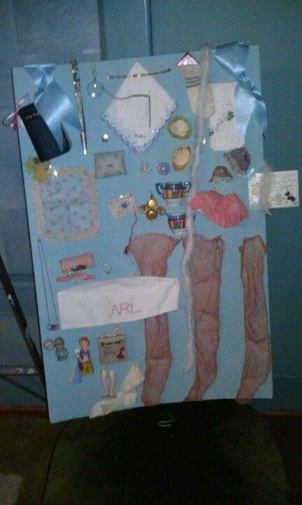 Ruthie's childhood secret hidden box of treasures to keep.