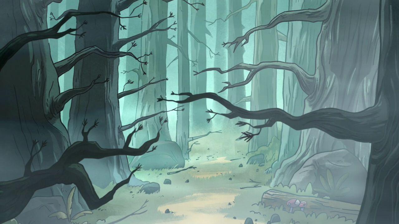 Gravity Falls S1E6 background art