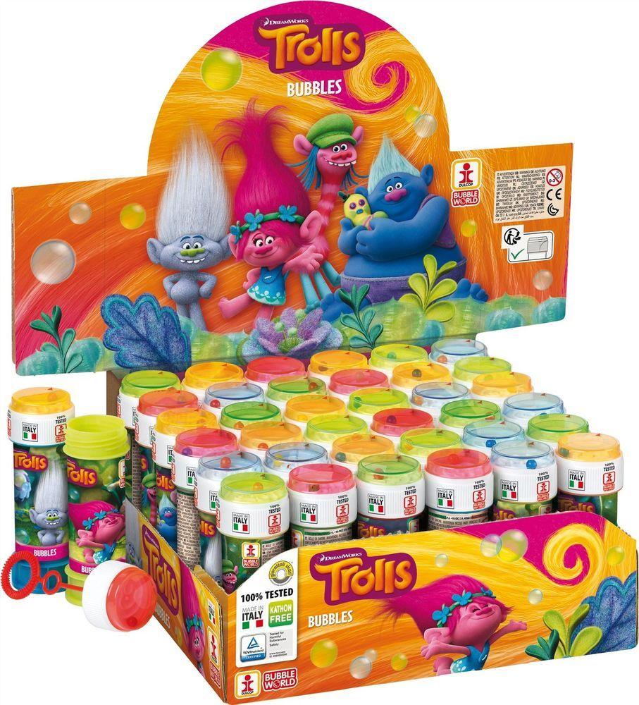 trolls bubbles bubble tubs childrens kids party bag filler puzzle