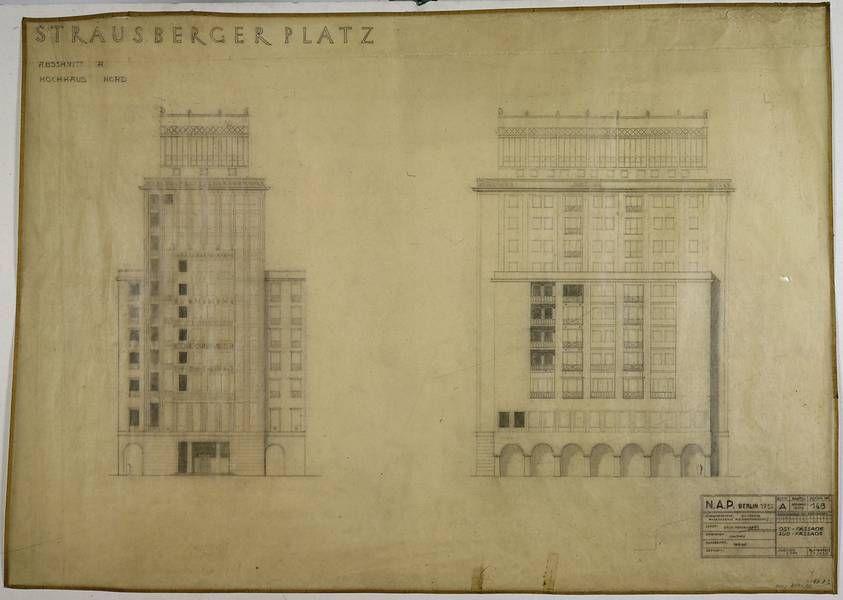 hermann henselmann stalinallee berlin view of. Black Bedroom Furniture Sets. Home Design Ideas