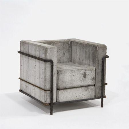 Le Corbusier Chair Concrete Concrete Furniture Corbusier Chair Concrete Design