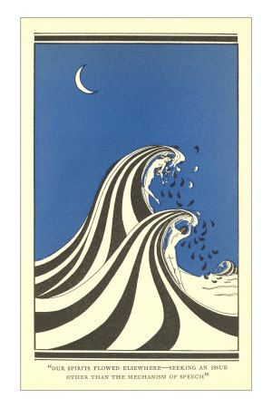 Art Deco Lovers In Waves Prints Allposters Co Uk Art Art Deco Movement Circle Art