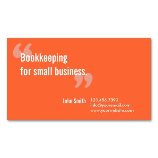 Bookkeeping service minimal orange business card photo business minimal orange bookkeeping service business card reheart Images