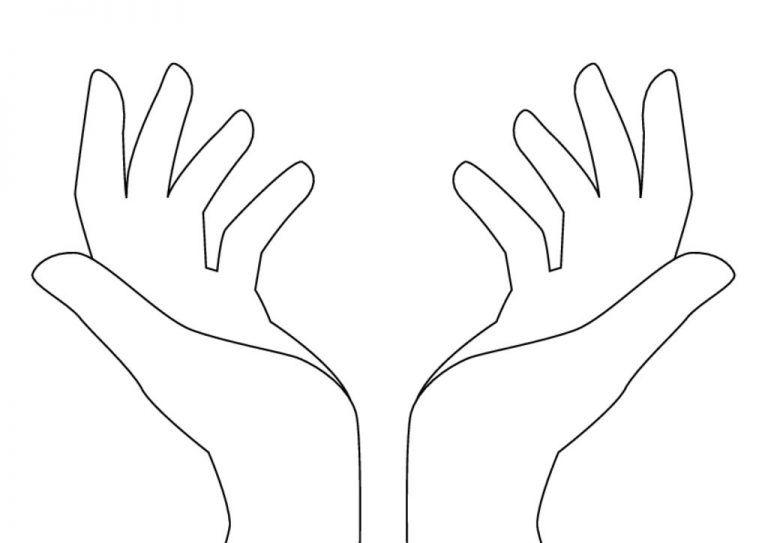 Шаблон руки картинка