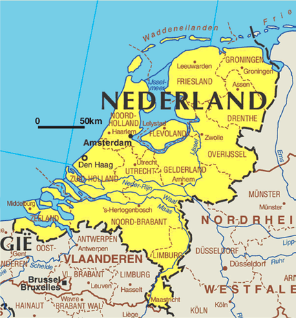 The Netherlands as the name indicates is lowlying territory with