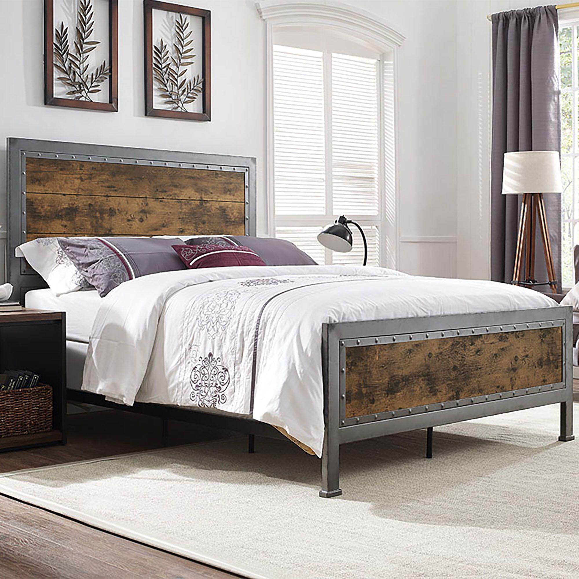 Best Berta Queen Standard Bed Bed Frame Headboard Furniture 640 x 480