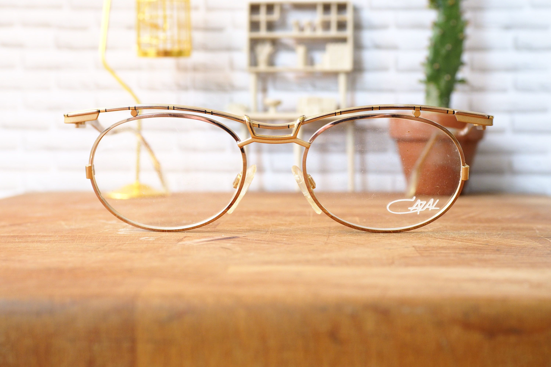 068b7e058df Vintage Cazal Eyeglasss 1990 s New Old Stock Gold Toned Made In Germany  Frames Rare Glasses hip hop by hisandhervintage on Etsy  cazal vintage   vintage ...