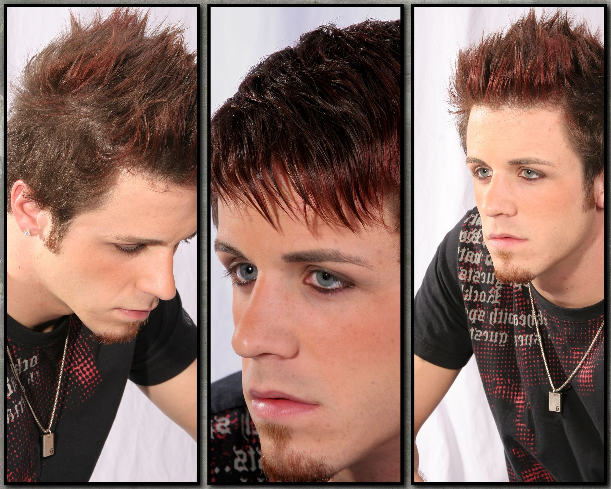 Mens haircut with red colorjill shear xpectations jillus work