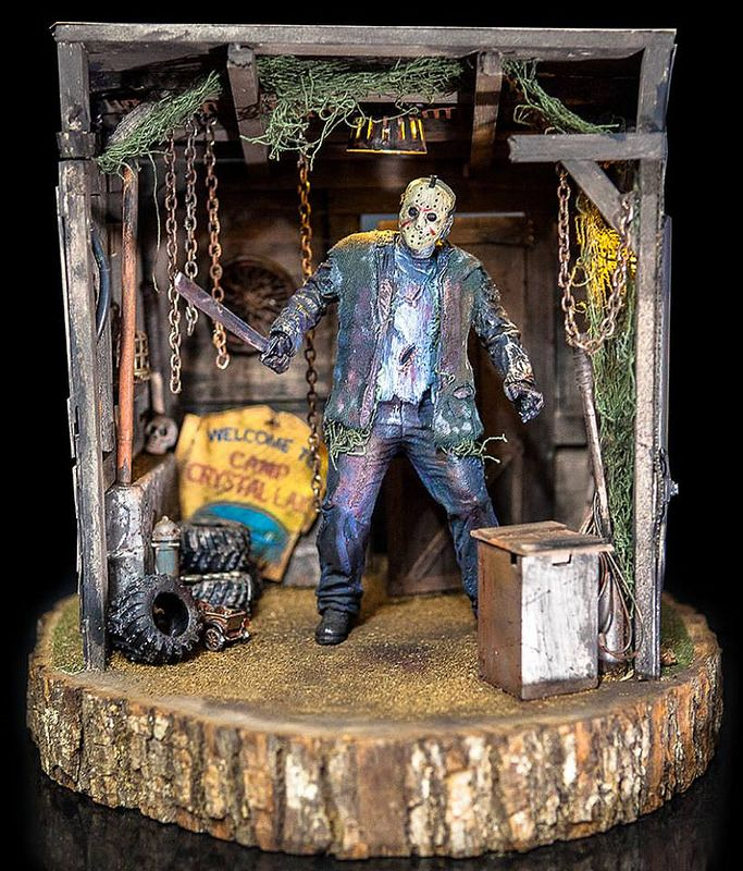 Jason: Friday The 13th 1:12 Scale miniature Diorama David Miniatures