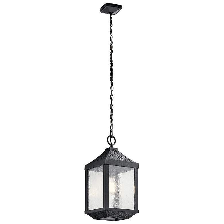 Springfield 19 1 4 H Distressed Black Outdoor Hanging Light