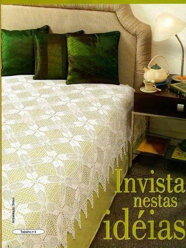 Háčkování: Přehoz přes postel   cubrelechos tejidos en carpetas ...