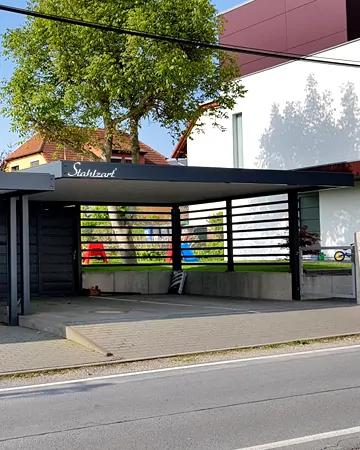Design Doppel Carport Metall Mit Abstellraum Dresden Stahlzart In 2020 Bauhaus Design Contemporary Architecture Outdoor Decor