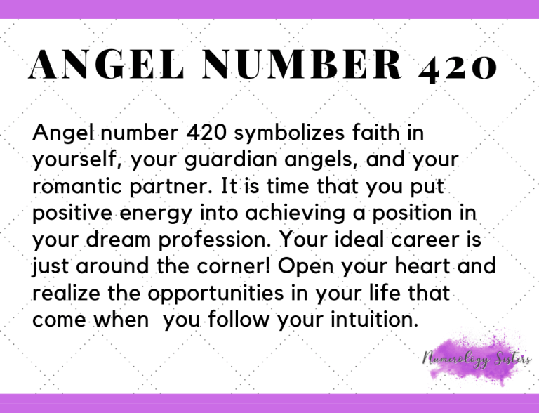 420 Angel Number Meaning Why Do You Keep Seeing The Number 420 Number Meanings Angel Number Angel Number Meaning