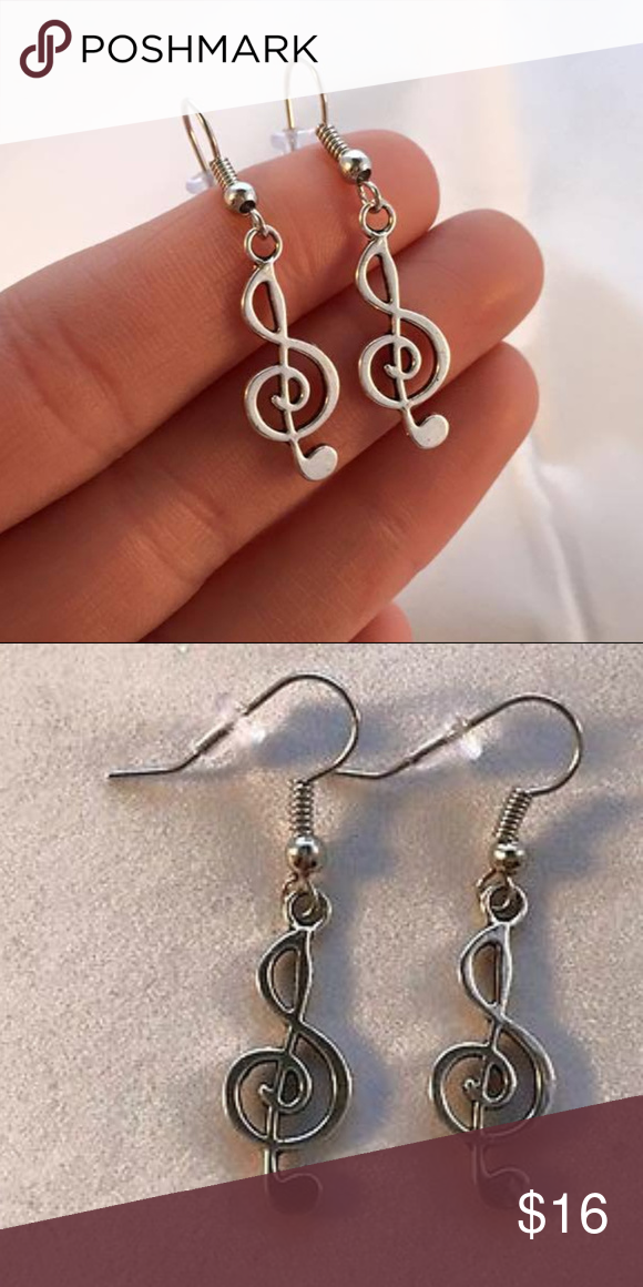 Silver Music Note Earrings Hypoallergenic Hooks These Awesome Dangle Are Made Of