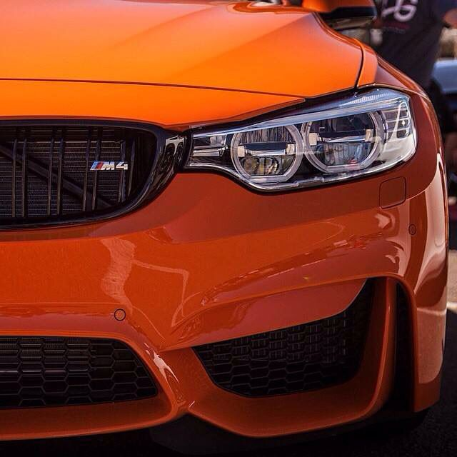 Orange BMW M4 | M series | BMW | M4 | BMW photos