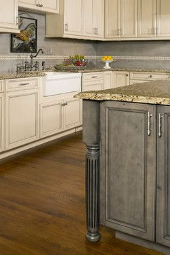Knotty Alder Kitchen Cabinets Design Ideas, Pictures, Remodel, And Decor...  Interesting Stain Color For Island