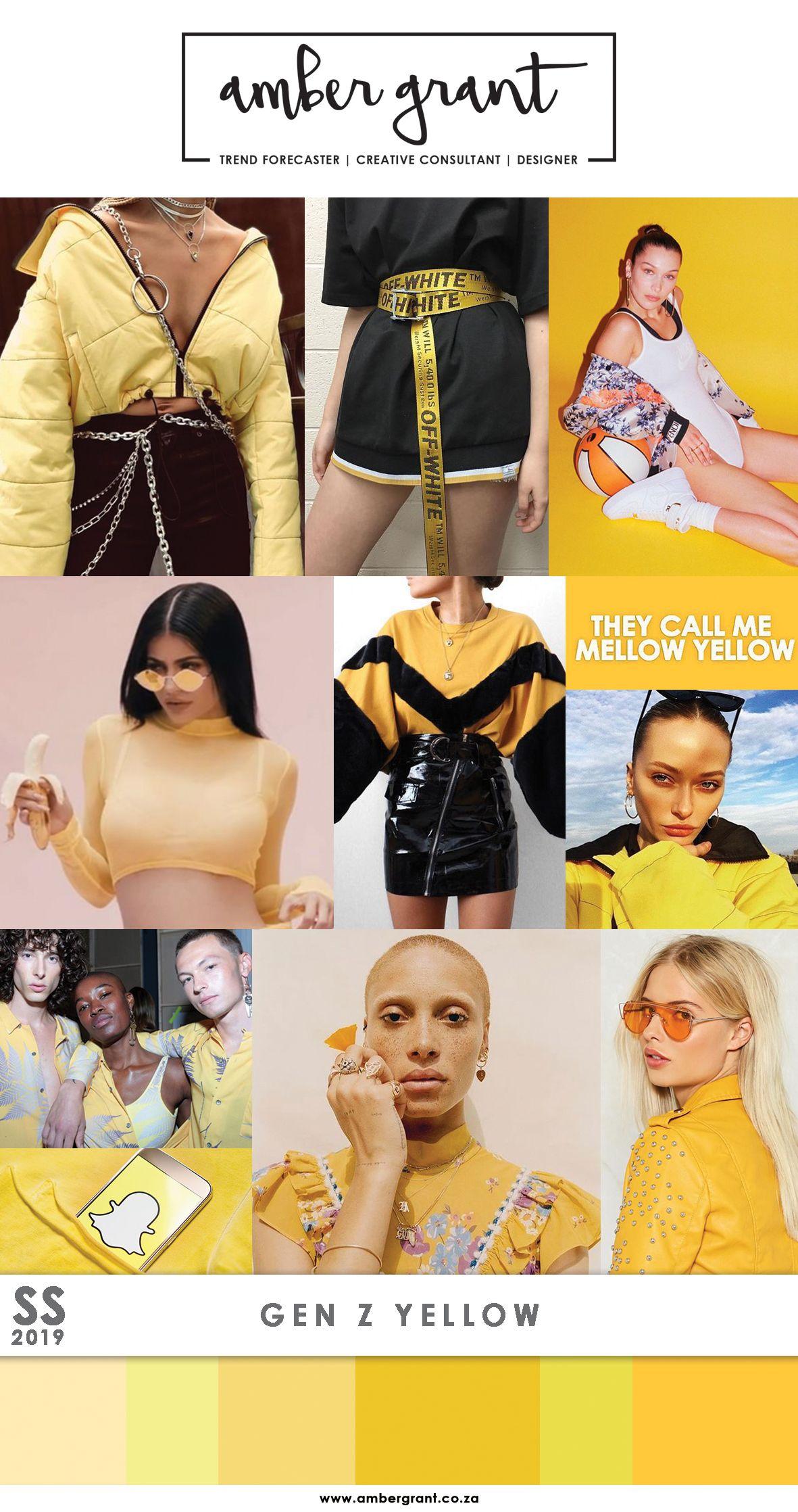 gen z yellow trends summer 2019 mode farben trends. Black Bedroom Furniture Sets. Home Design Ideas