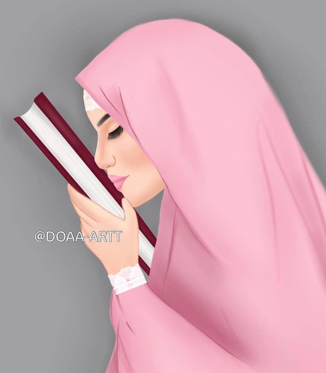 خاتمين القرآن قبل Fashionyista Fashionyista صور كارتونية للحلوات منشن لصديقاتك تشوفهن معك خلفي Islamic Girl Art Girl Cute Couple Cartoon