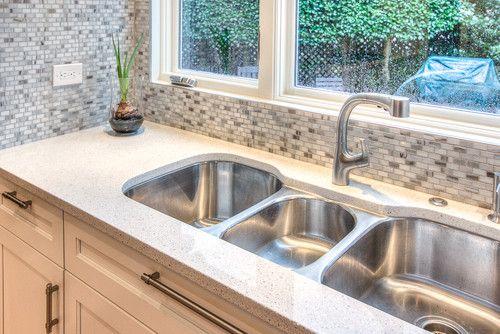 Robin Hood Residence - contemporary - kitchen three bowl sink- atlanta - Studio M Interiors