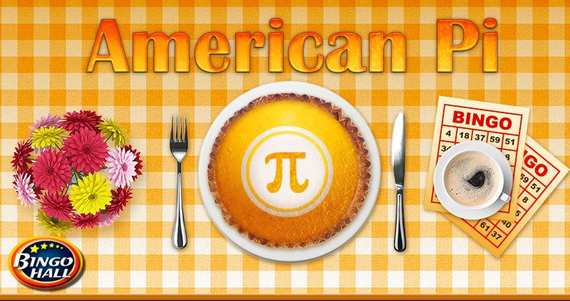 Come play in the all-new American Pi online bingo tournament to take your slice of winnings! A $3,141 bonus!