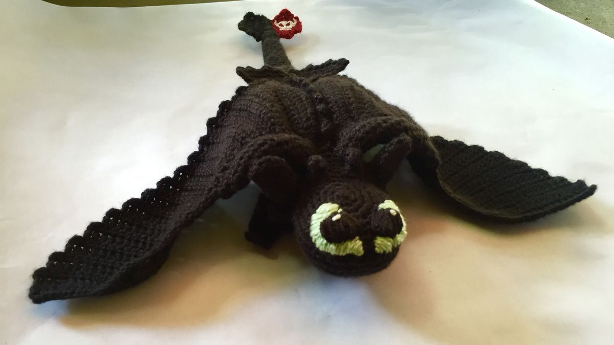 Crocheted toothless from how to train your dragon. Pattern from http ...