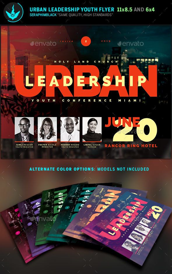 Urban Youth Leadership Conference Church Flyer Template | Flyer