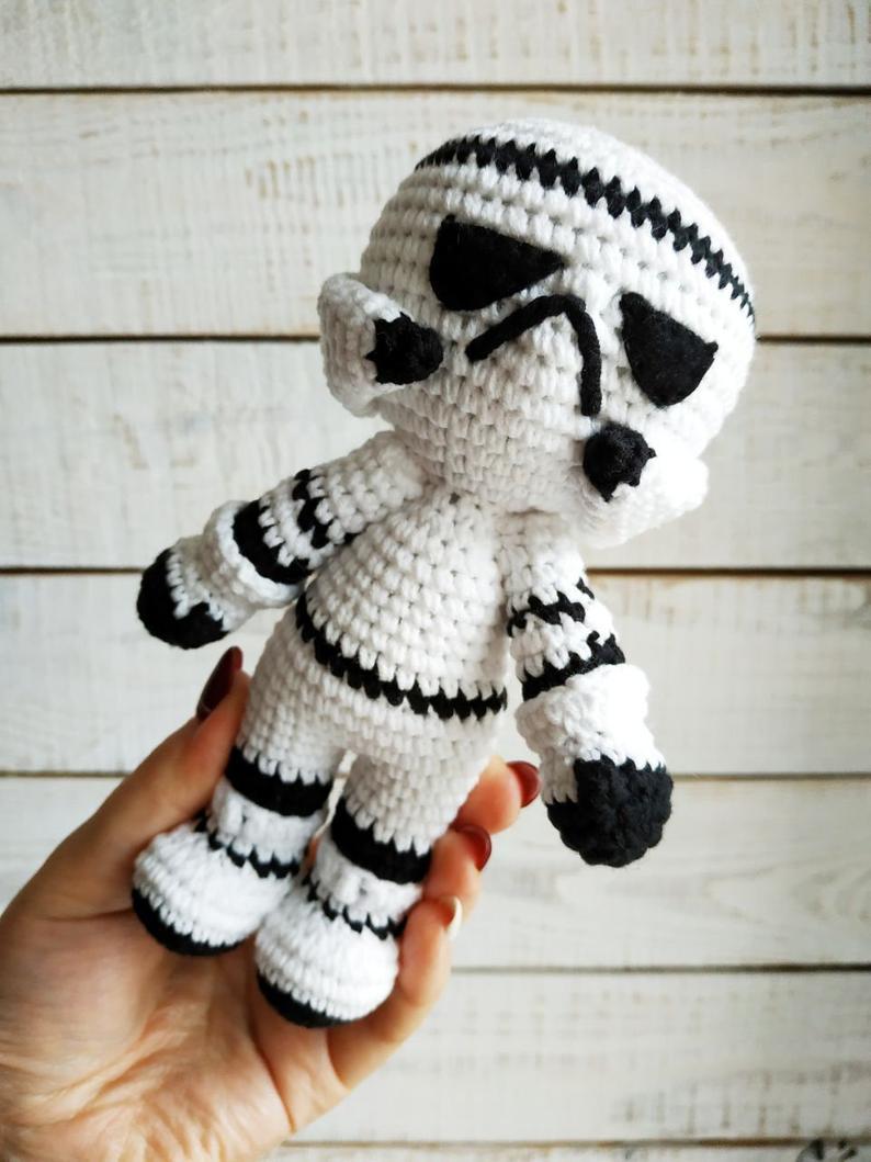 Stormtrooper Crochet Pattern Pdf Amigurumi Star Wars Dolls Etsy In 2021 Star Wars Crochet Crochet Dolls Crochet Baby Boy