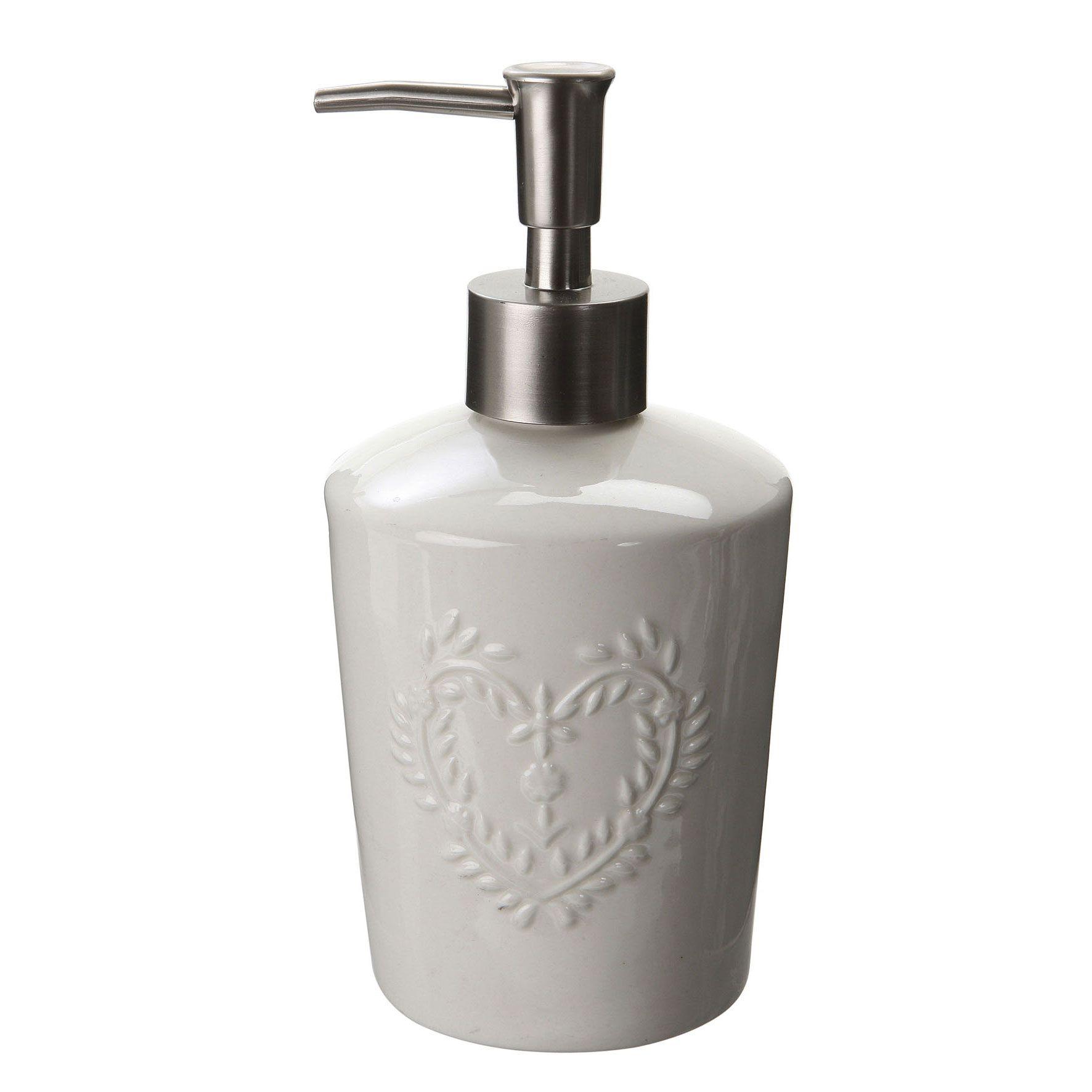 Perfect rcipient porcelaine mcanisme mtal dimensions x cm couleur blanc porte savon liquide les - Porte savon liquide mural ...