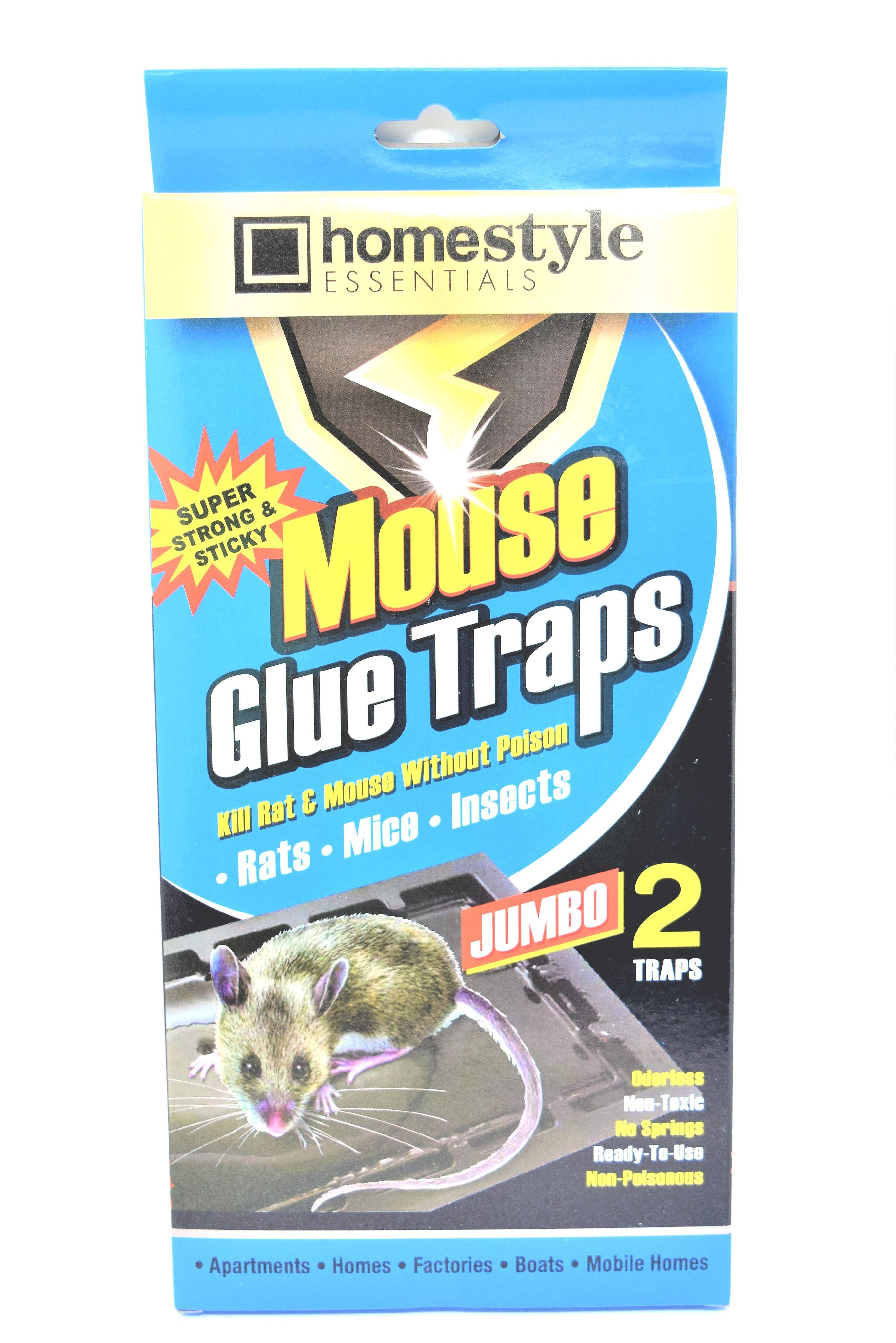 HomeStyle Essentials Jumbo Mouse Glue Traps, 2 Pack   Products ...