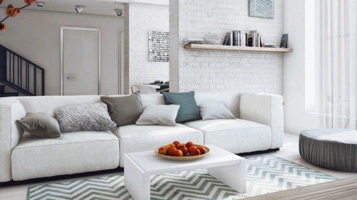 Un Salon En Gris Et Blanc Est Chic Voila Photos Qui Temoignent Pinterest  Salons And Framed