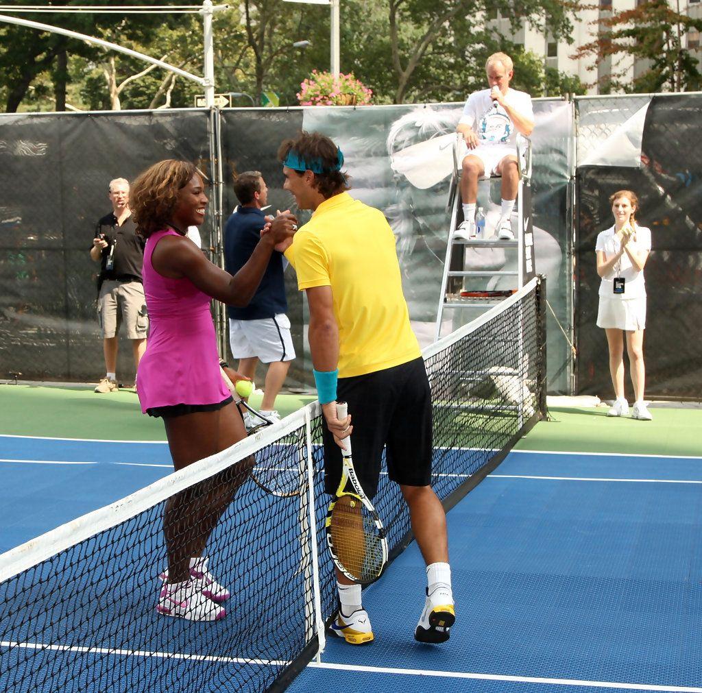 Rafael Nadal Photos Photos Roger Federer Rafael Nadal Serena Williams John Mcenroe Challenge Serena Williams John Mcenroe Serena Williams Photos