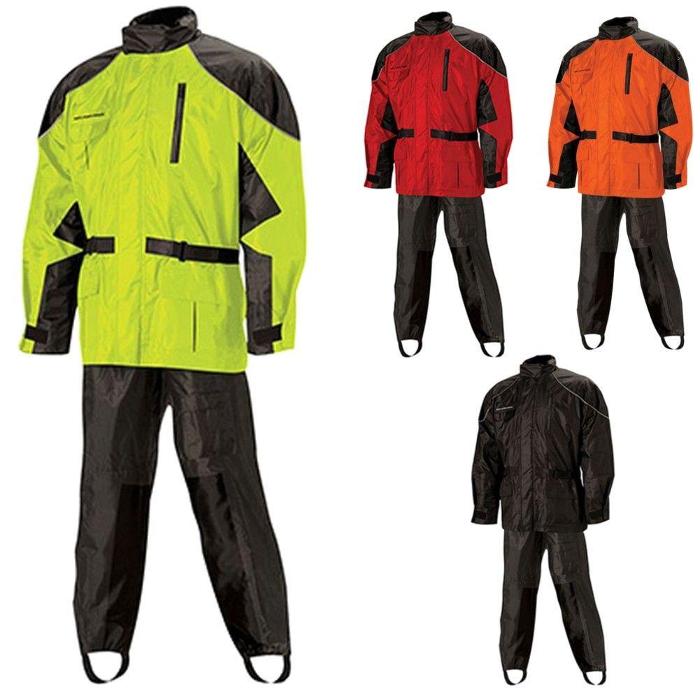 2 Piece Rain Suit Gear Motorcycle Gear