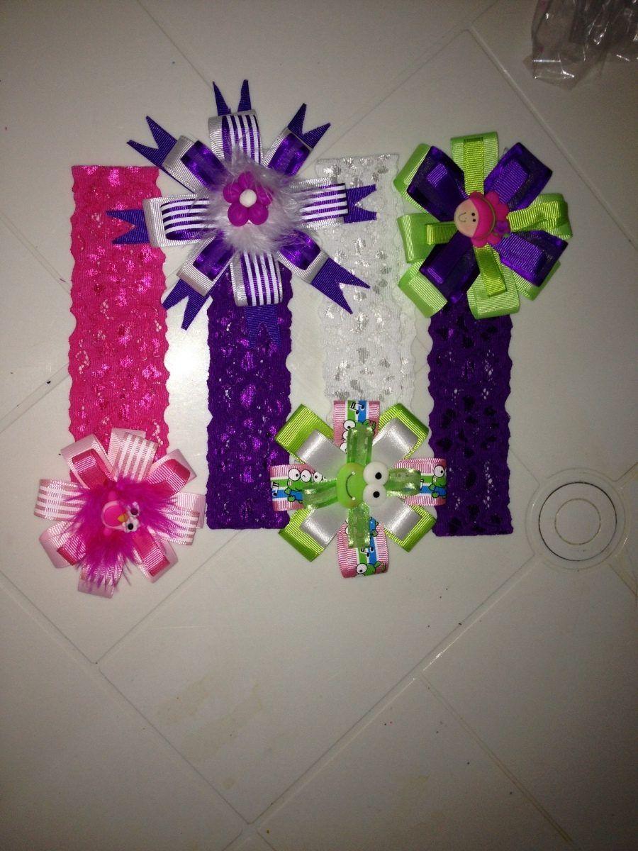 Cintillos y lazos con cinta elastica para bebes ninas mlv - Lazos con cintas ...