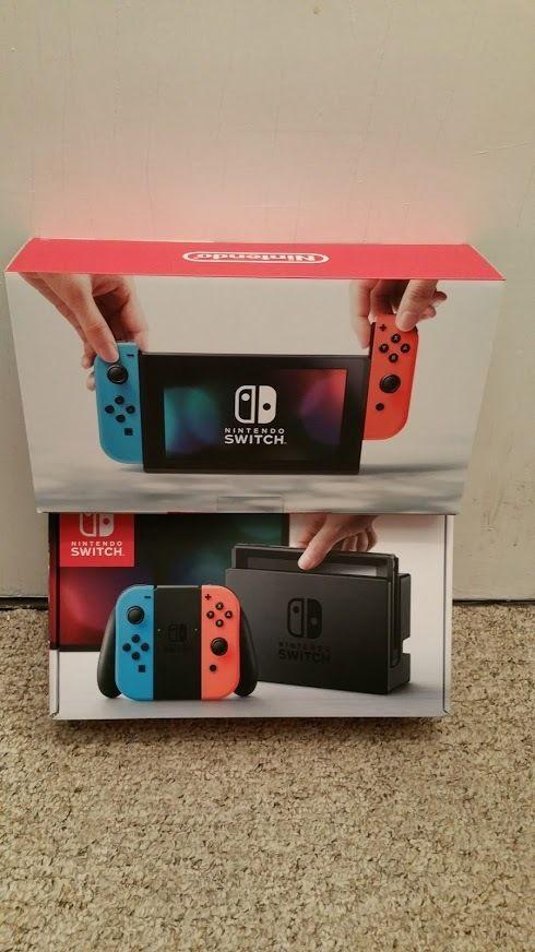 Nintendo Switch 32gb Gray Console Gray Or Neon Red Blue Joy Con Mario Kart 8 Nintendo Grey Consoles Nintendo Switch Nintendo