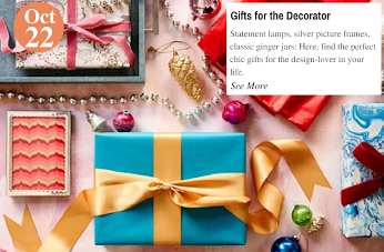 Presents with Panache Gifts for the Decorator: www.teelieturner.com #decor