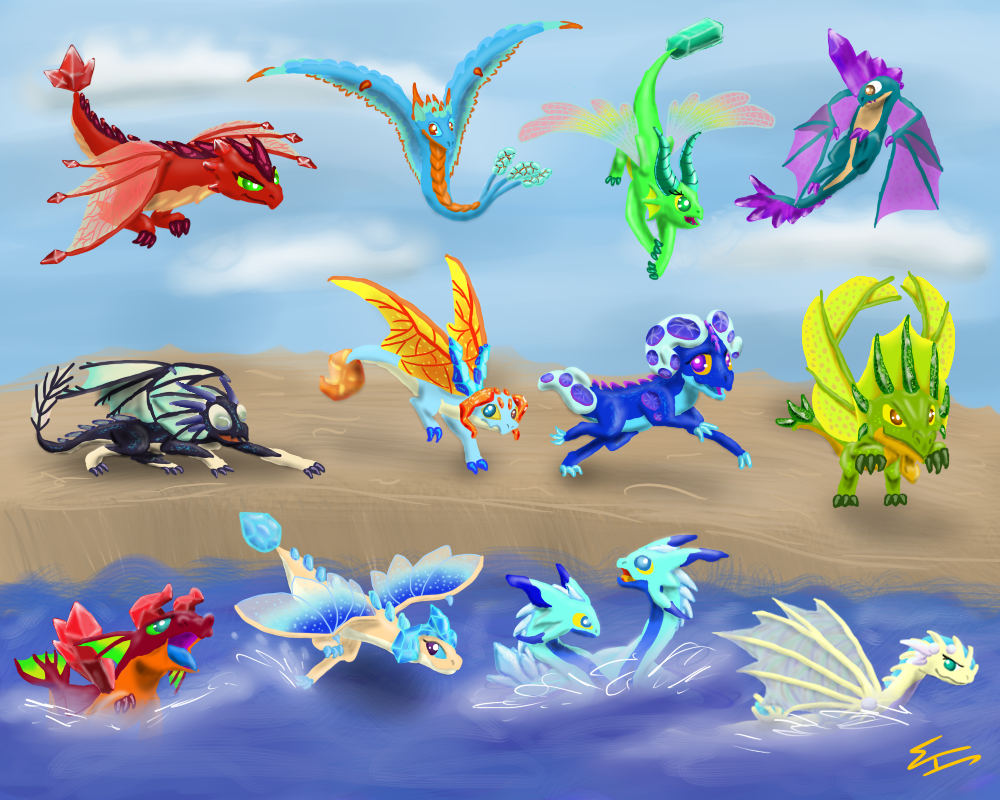 Discovering the environments from Dragonvale