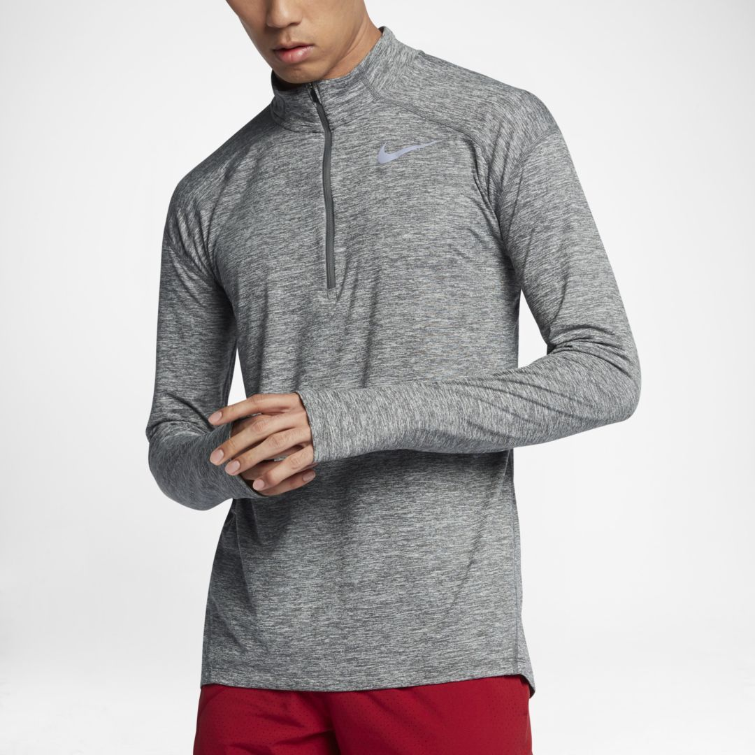 bd845401 Nike Dri-FIT Element Men's Long Sleeve Half-Zip Running Top Size 2XL (Dark  Grey)