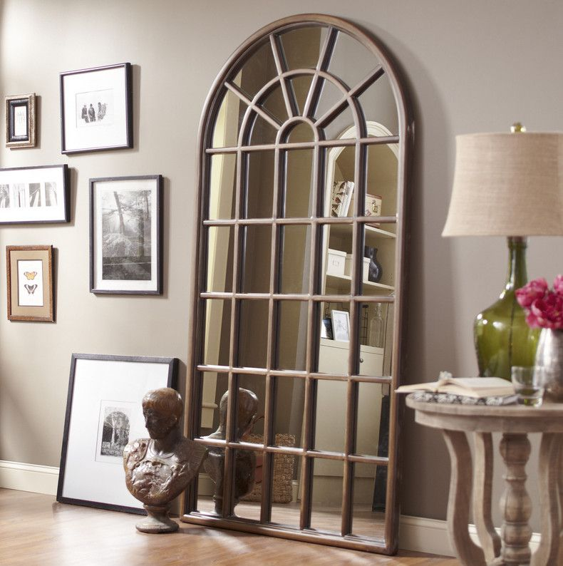 Decor arched mirror window frame house pinterest for Window frame designs house design